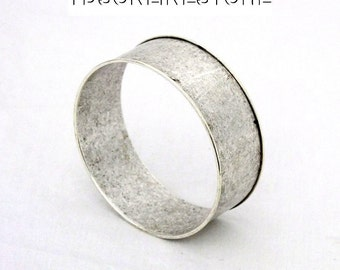 Antique Silver Plated Bangle 1 Inch Wide - Ready For Crafting Or Wear SALE
