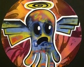 Angel Ghost  - Original  Psychedelic Art on Vinyl Record