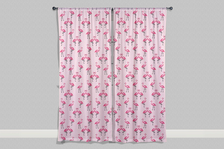 Flamingo Curtains Or Valance, Custom Window Curtains, Custom Curtains,  Nursery Curtains, Flamingo