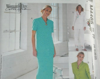 2004 McCall's sewing pattern #M4465 misses top, pants, skirt Size FF new in package