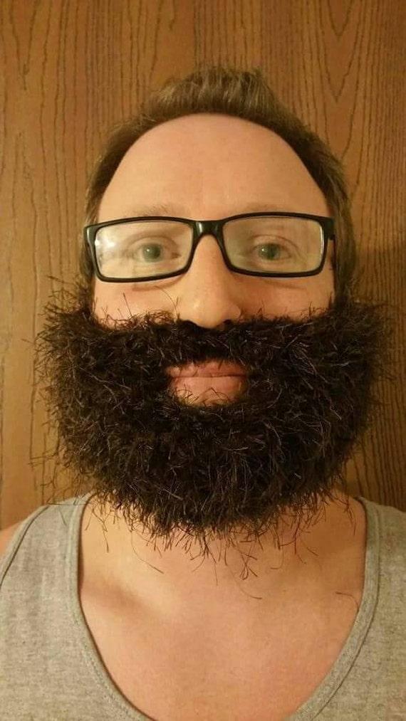 Dark Brown Men's Burly Beard, Men's Lumberjack Costume, Men's Lumberjack Mask, Men's Wiseman Costume, Men's Beard Accessory, No Shave Club