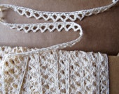 Cotton Cluny Lace Natural 3/8 inch wide by the yard
