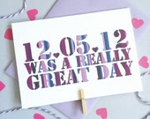Really Great Date Card – Personalised Anniversary Card – Card for Husband/Wife – birthday card for husband/wife –Wedding card for husband