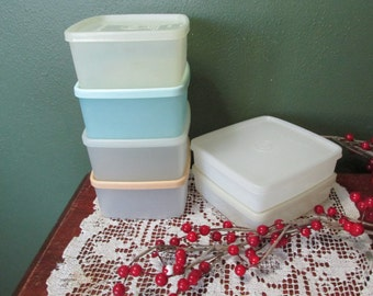Tupperware Square Containers Set of 6 Freezer Boxes