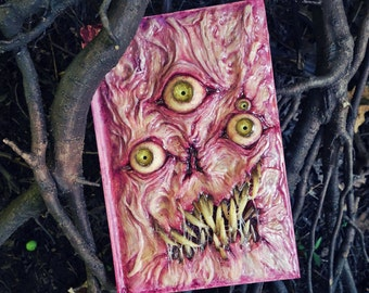 Necronomicon large blank sketchbook with ooak sculpted cover