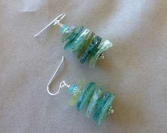 Ancient Roman Glass Earrings