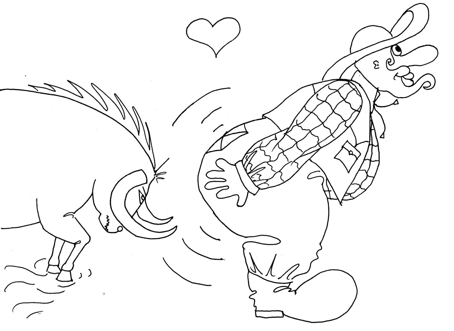 tempting fate funny coloring pages from the chubby art