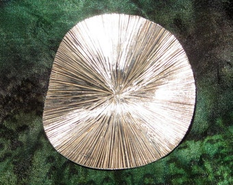 Sterling Silver Modernist Brooch 1 1/2 Inch Diameter Designer Signed