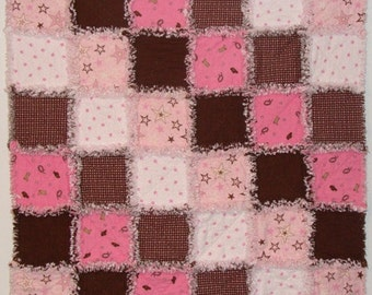 Cowgirl Baby Rag Quilt Kit