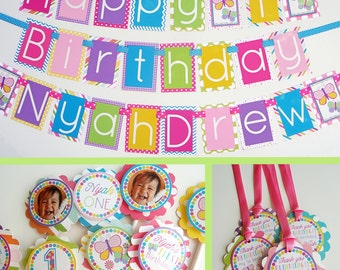 Butterfly Birthday Party Decorations Package Fully Assembled