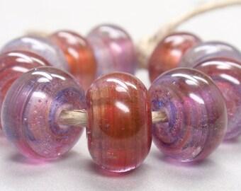 Nanda Devi Swirls  - 10 Handmade Lampwork Beads SW 136