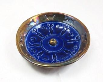 Incense Burner GODDESS  Handmade Raku Pottery