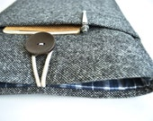 Laptop Sleeve 11.6 inch Laptop Case 12 inch Microsoft Surface Pro 4, Unisex Surface Book Case - Gray Wool and Plaid