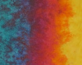 Hand Dyed Fabric - Color Wheel Warm -  Color Wheel Basics Gradient
