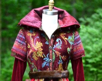 Custom sweater COAT for MaryAnn. Patchwork Fantasy boho clothing