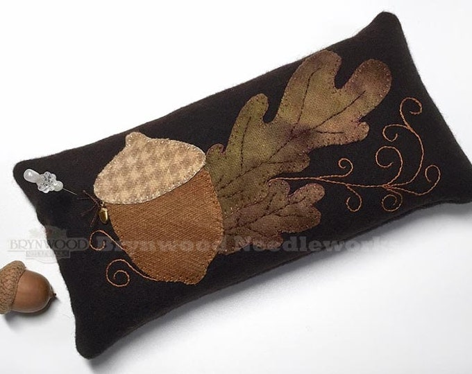 Featured listing image: Ltd. Ed. Brynwood Acorn Woolen Pincushion, Acorn Wool Pincushion, Wool Acorn Pincushion, Acorn Needlekeep