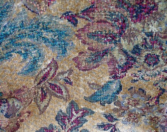 Gorgeous Upholstery Fabric / Rich Colors / Wine / Green / Gold
