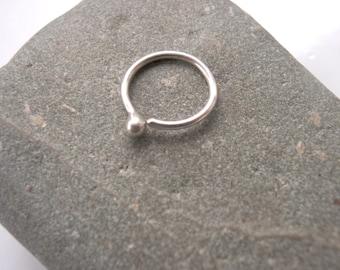 10mm 18 gauge Septum Cartilage Ring Sterling Silver
