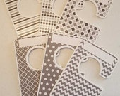 6 closet dividers any size - gray adult or baby Large clothes organizer 1.5 inch rods CLG2