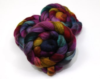 Mixed BFL (Blue Face Leicester) Roving - Hand Dyed Roving (Combed Top) for Felting or Spinning