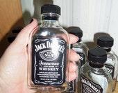 "Single Mini 5"" Empty Jack Daniels Whiskey Bottle 100 ml Craft Supply"