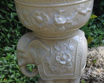 Elephant, planter, ceramic, candy dish, candle holder, succulent planter