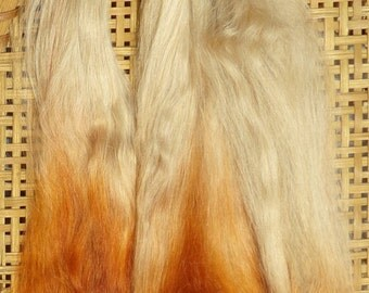 Combed Suri Alpaca Doll Hair 8-9 inches 0.3 of an ounce Blonde Ginger