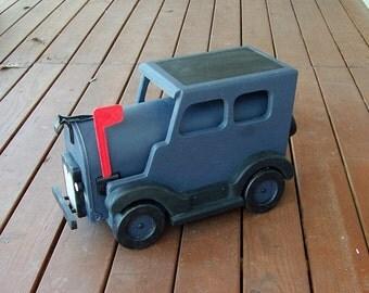 Old Looking Dark Gray And Black Car Mailbox