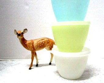 6 pc Vintage Tupperware Pastel Nesting Refrigerator Bowls w/ Lids, Durable Classic, Shabby Cottage Chic, Retro Sheer Plastic Unbreakable USA