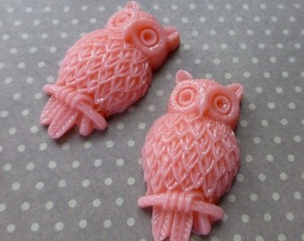 Resin Cabochon Owl Pack of 4