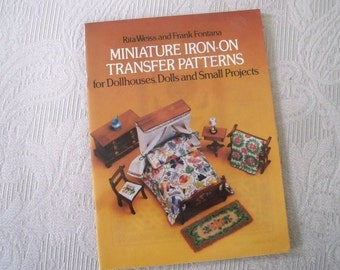 Vintage Craft Supply Miniature Iron-On Transfer Patterns Dollhouse Project