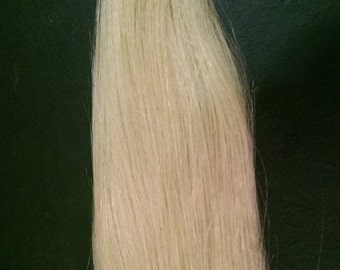 "LIGHT GOLDEN BLONDE (#613) Human Hair Extension weave, Use to make clip in extensions 25"" wide"