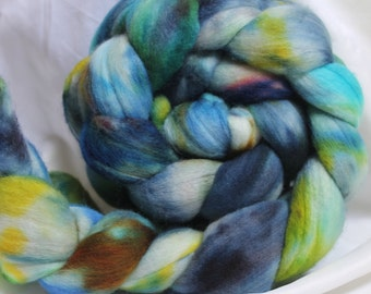 hand dyed merino combed top/ roving 4.2 oz
