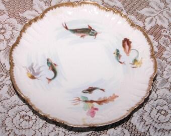 Limoges Limoge France Fish Plate Catfish