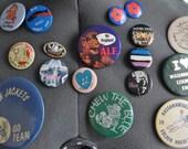 Pick a Pin Vintage 70s 80s Garfield Santa Alf Rolling Stones Joan Jett Nautical Stop Whaling Activism Humor Pop Culture MTV
