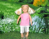 OGM-152) 6.5 inch Our Generation, American Girl and Lori , MINI doll clothes, 1 leggings and cute top