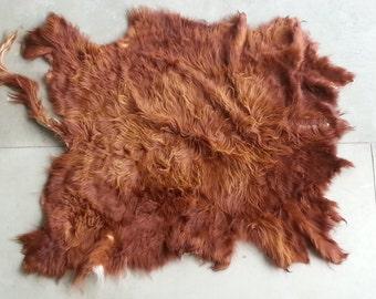 Dark Red Blonde Scottish Highland Cowhide-  Soft tanned- Lot No. 24593Y