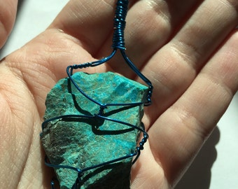 Chrysocolla Wrapped Pendant