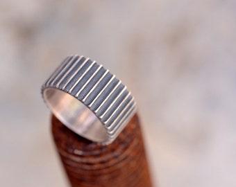 Gear Ring-Mens Silver Signet Ring-Cool Mens Ring-Cool Wedding Ring-geek engagement ring-Architectural Ring-Mechanic Ring-kinetic ring-MJ