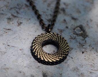 Mesh-Rugged chain-Grange Jewelry-Basic chain for man-Grange Necklace-Grange Pendant-Basic necklace for man-geometric pendant for man-MJ