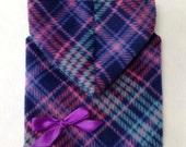 Purple Plaid Hoodie Dog Dress Clothes Size XXXS through Medium by Doogie Couture