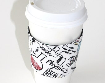 Science Notes Reusable Coffee Sleeve