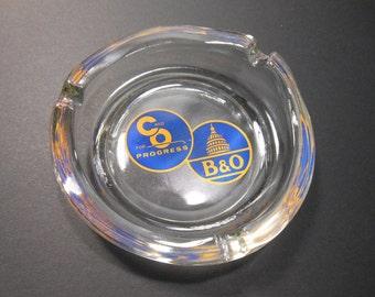 B&O, Chessie Glass Ashtray