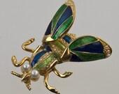 SALE - Hattie Carnegie Trembler Bug Brooch - Down from 175.00