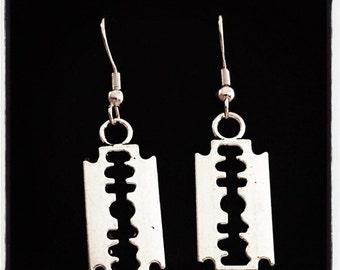 Love Stings Razorblade Earrings