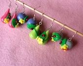 4 pairs of flower earrings