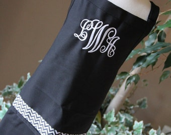 Personalized Embroidered Adult Apron Monogrammed  Mommy Teacher Grandma GIFT