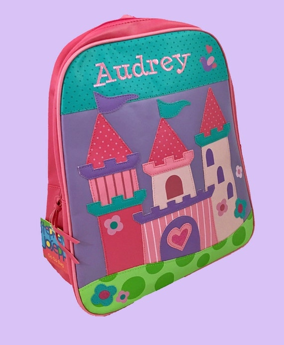 Personalized Stephen Joseph GoGo Backpack PRINCESS CASTLE Themed Bag