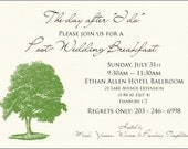 Wedding Breakfast Invite, Favor Tags and Itinerary cards for Joanna