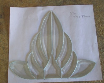 9 pc Clear Bevel Cluster